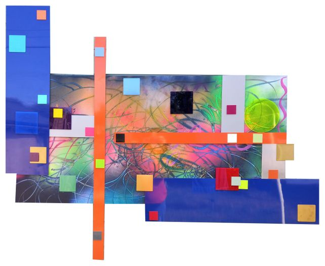 XXXL Abstract Metal Wall Art/Scultpure 142 x 111cm