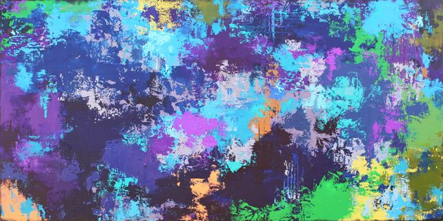 XXXL Abstract Toulouse 122 X 61cm Textured Abstrac