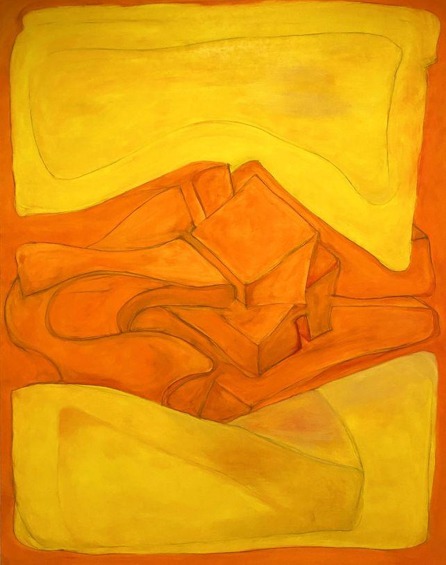 Yellow with Orange
