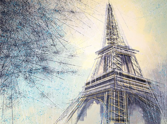 Paris- The Eiffel Tower At Dusk