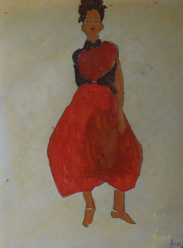 woman red