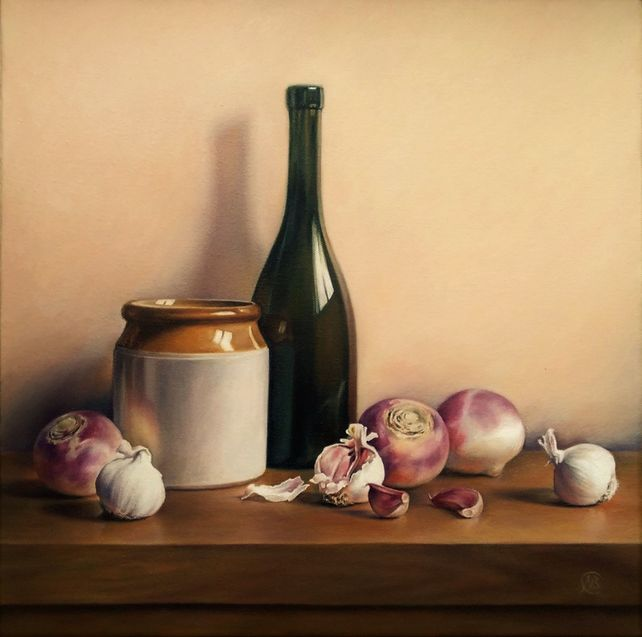 Still Life with Turnips and Garlic