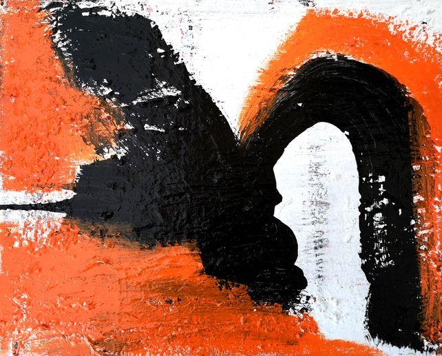 Orange on Black #4