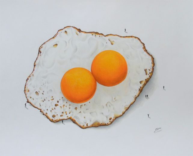 Double Yolk Egg: A Pencil Drawing