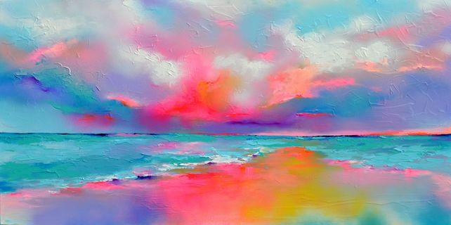 New Horizon 146 - Large Colorful Seascape Painting