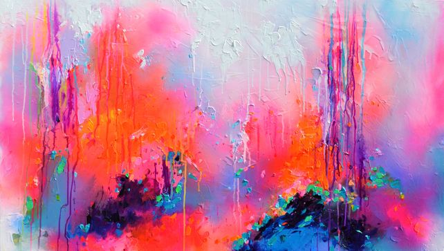 High Voices - Large Relief Abstract Painting