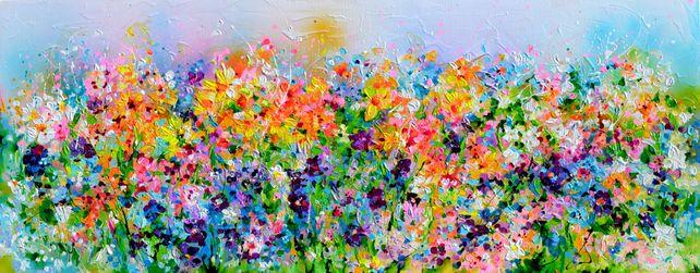 I've Dreamed 23 - Colorful Spring Floral Painting
