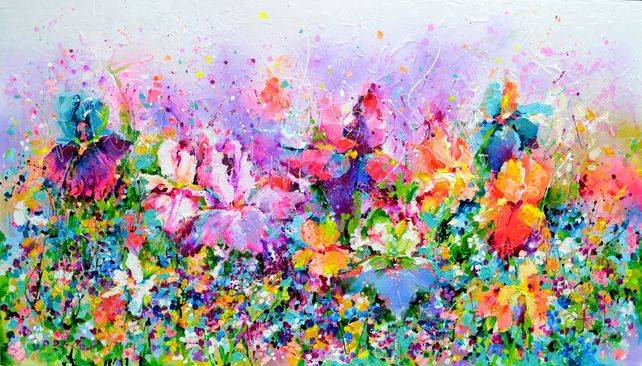 I've Dreamed 25 - Relief Colorful Floral Painting