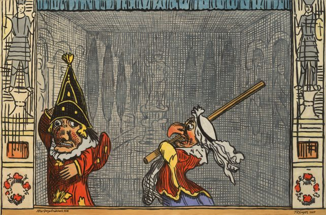 Punch and Judy, after George Cruickshank
