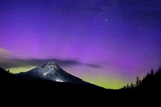 Northern Lights Over Mt. Hood