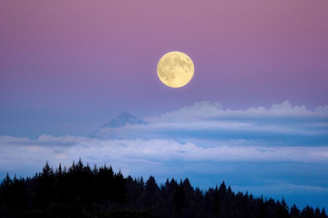 Super Moon Over Mt. Hood