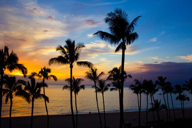 Hawaii Sunset from Kaanapali, Maui