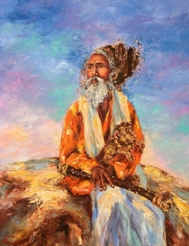 Sadhu et son singe