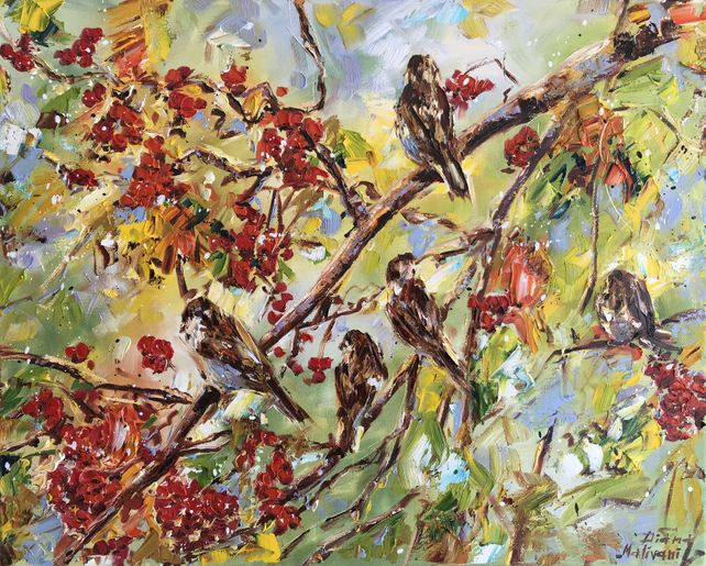 Sparrows in the Rowan-Tree