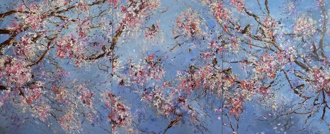 Spring. Triptych