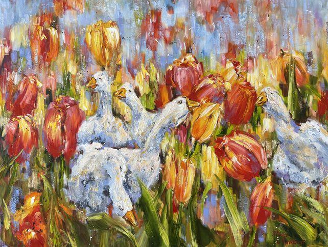 Au milieu des tulipes