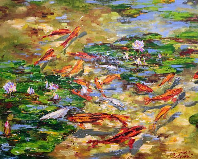 L'étang sous le soleil d'été