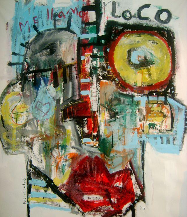 Abstract portrait Me llamo loco