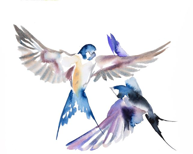 Swallows in Flight No. 33