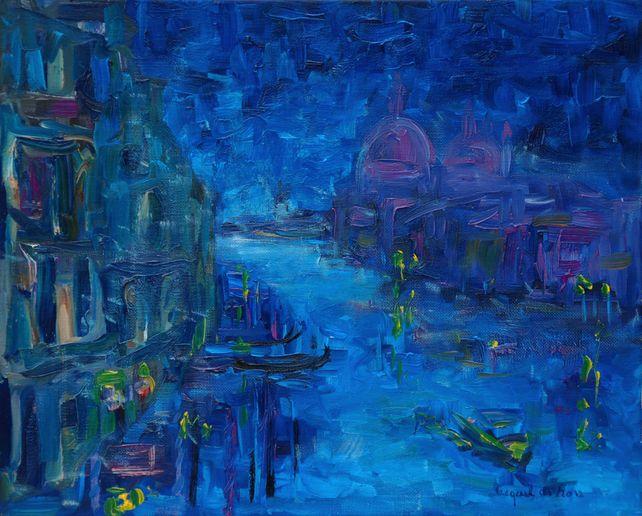 Grand canal de nuit à Venise