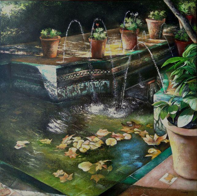 Andalusian garden in de house of Sorolla Painter