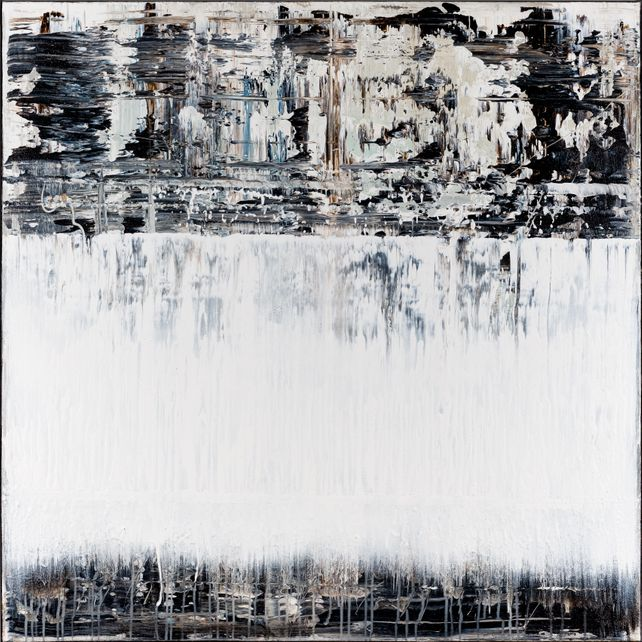 Black&White Abstract painting BX397
