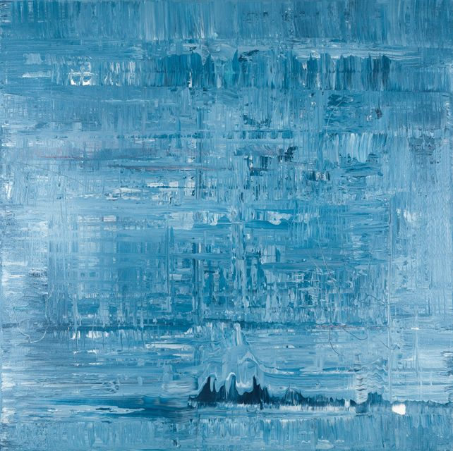 Blue abstract painting BN984