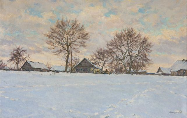 Winter in the village of Khoruzhi
