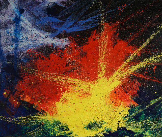 The Blast (120 x 100 cm) XXL oil (48 x 40 inches)