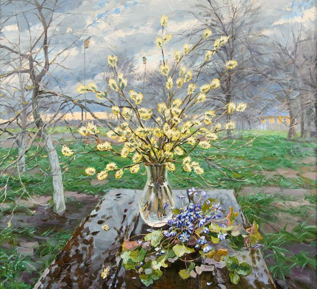 Still Life with Catkins and Snowdrops
