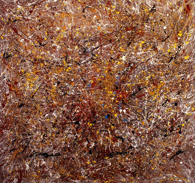 Desert Abstract J.Pollock Tribute