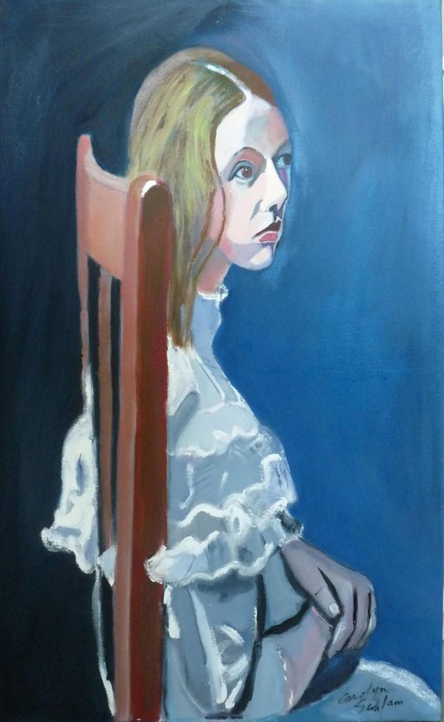 Girl in the Wooden Chair