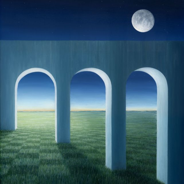 The Aqueduct by the Moon