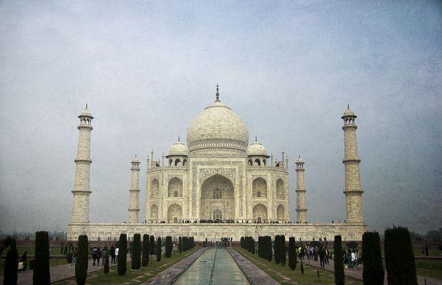 The blue Taj Mahal
