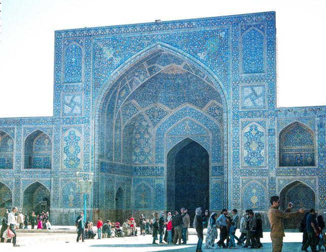 Blue mosque in Iran