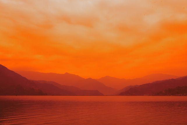 Orange mountains of Nepal