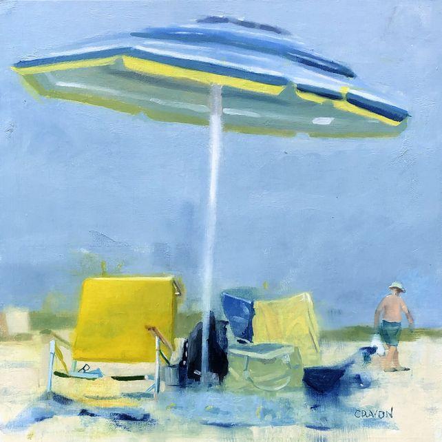 Umbrella by the Ocean