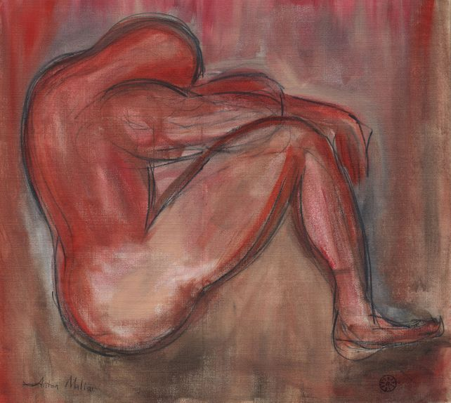 Male Nude In Red
