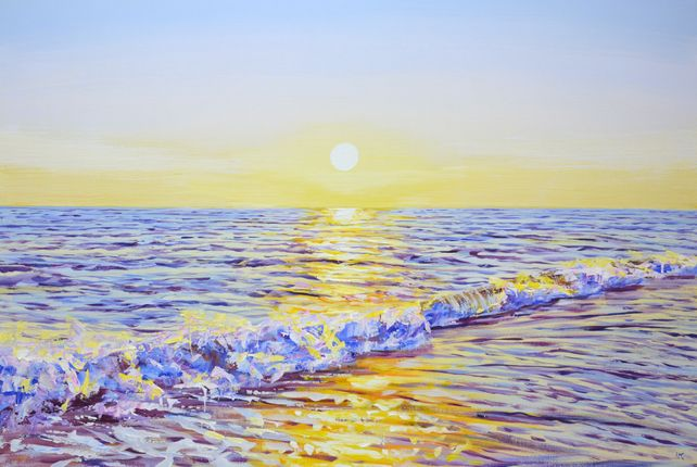 Magic sunset. Ocean.
