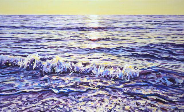 A magical sunrise at the sea