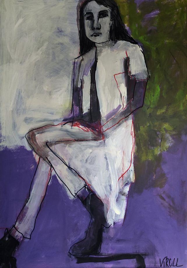 Sitting woman IV