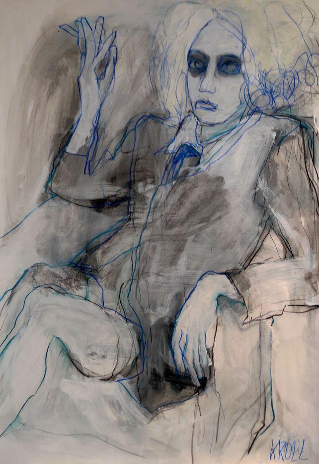Sitting woman III