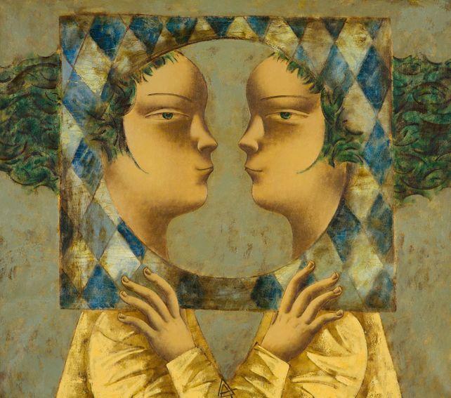 Double Portrait. Reflection