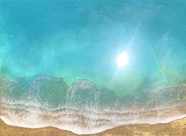 Teal Waves #14