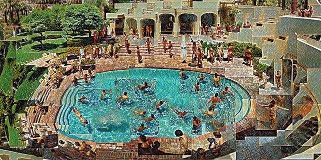 Pool Party at the Former Max Factor Estate