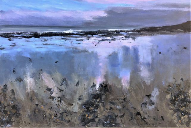 Beach Reflections, Winter