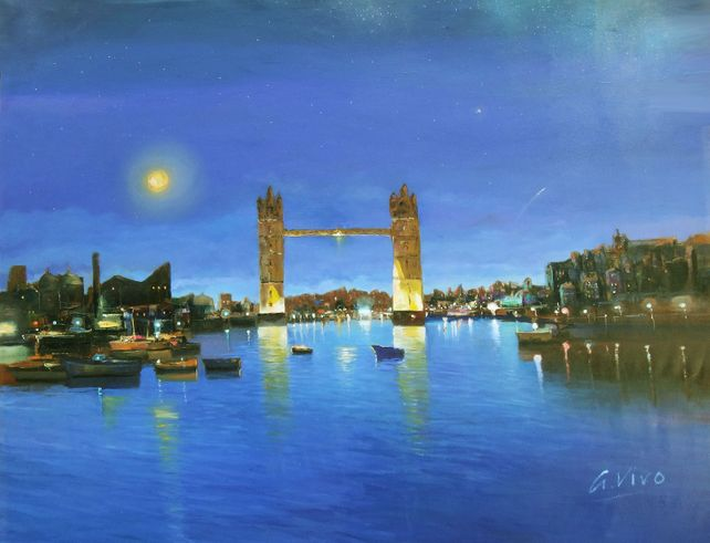 4890 London bridge by night
