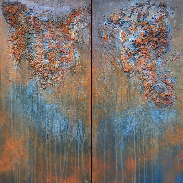 Abstract painting 2116/1 Diptych