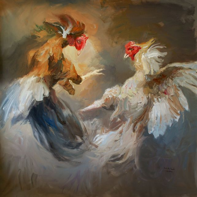 Clash of Roosters - Struggle for Power.