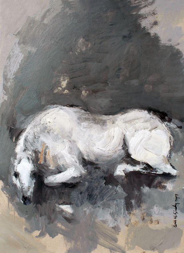 A stallion in rest.